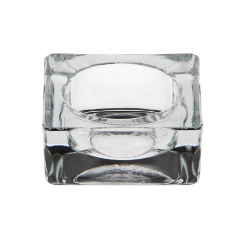 Papstar - Candle Holder Glass Square 60mm
