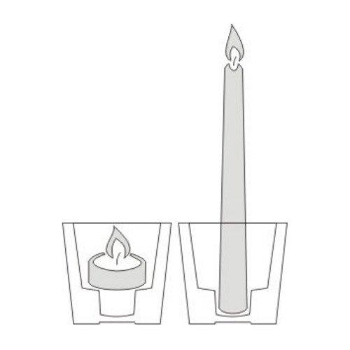 Papstar - Candle Holder Cylindrical two in one