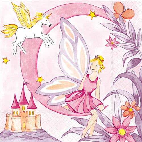 "Papstar - Napkins ""Fairy Tale"" 3-ply 1/4 fold 33cm (20pk)"