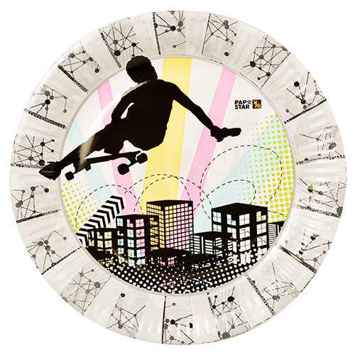 "Papstar - Paper Plates Magic Xperience ""Skater Boy"" 23cm (10pcs)"