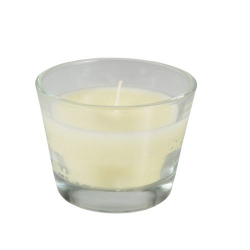Papstar - Candle in glass 80mm ivory