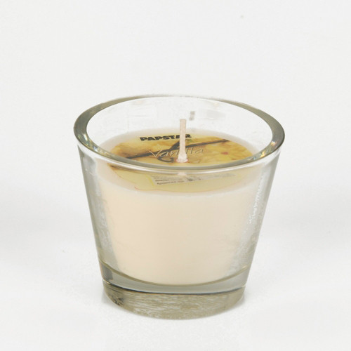 Papstar - Candle in glass 70mm Vanilla Scented