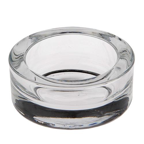 Papstar - Pillar Candle Holder glass round 100mm