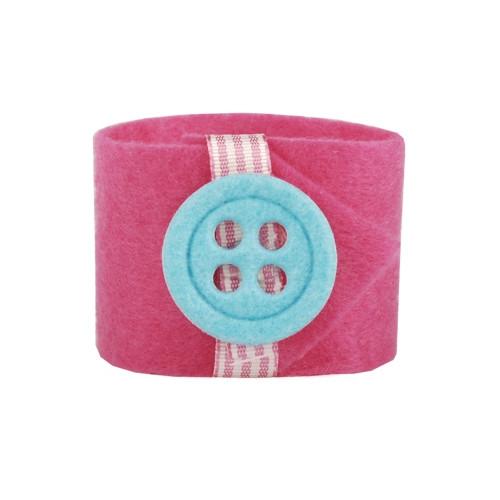 "Papstar - Napkin Rings 4cm pink ""button""(4pk)"