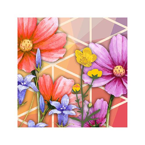 "Papstar - Napkins, 3-ply 1/4 fold 25cm x 25cm ""Crazy flowers"" (20pk)"
