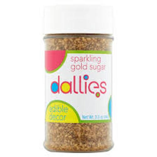 Sparkling Gold sugar  - Dallies (94g)