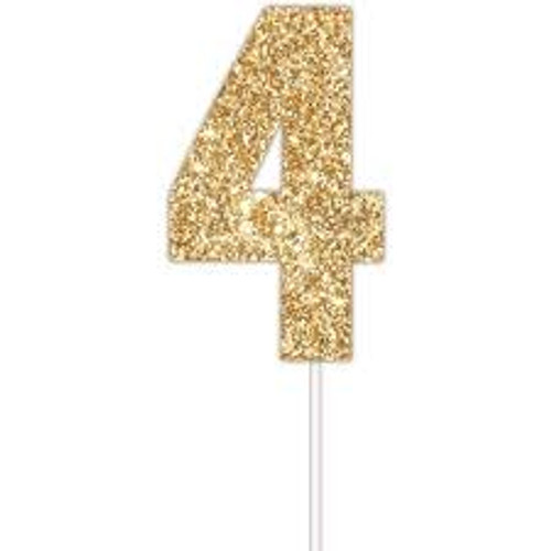 Art Wrap - Number 4 Cake topper Assorted