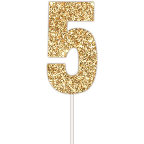 Art Wrap - Number 5 Cake topper Assorted