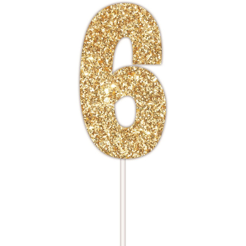 Art Wrap - Number 6 Cake topper Assorted