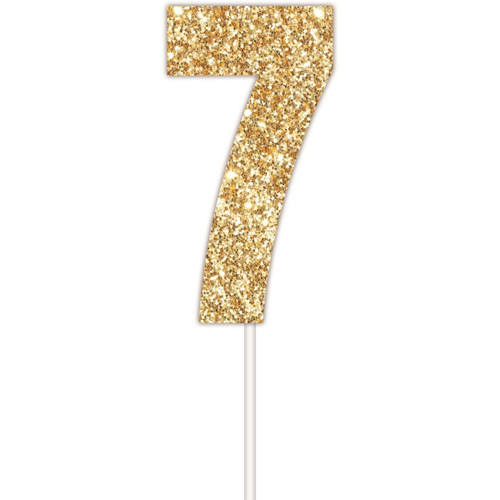 Art Wrap - Number 7 Cake topper Assorted