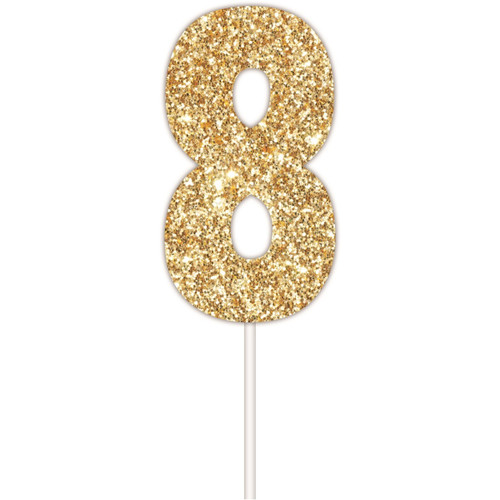 Art Wrap - Number 8 Cake topper Assorted
