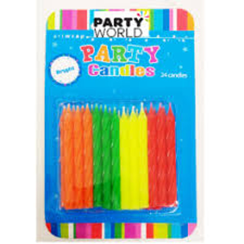 Art Wrap - Assorted Bright Candles 24pk