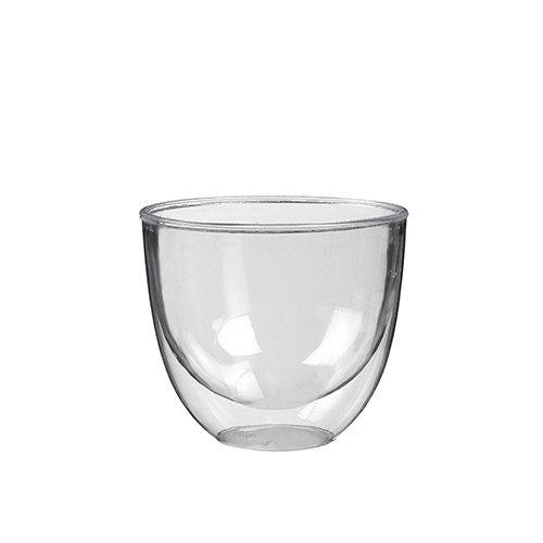 Papstar - Double Wall Cups 220ml Crystal Clear (10pk)