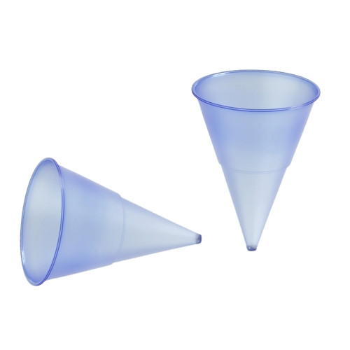 Papstar - Conical Cups 115ml  blue cone (1000pk)