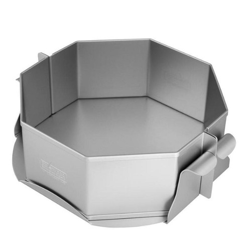 Silverwood - Silver Anodised Cheesecake/Pie Octagonal Loose Base Mould 8 Inch (20cm)
