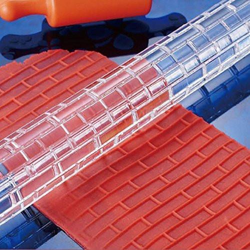 Fox Run- Brick Textured Acrylic Rolling Pin (25 x 325mm)