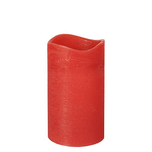 Papstar - Rustic LED Pillar 125mm Red