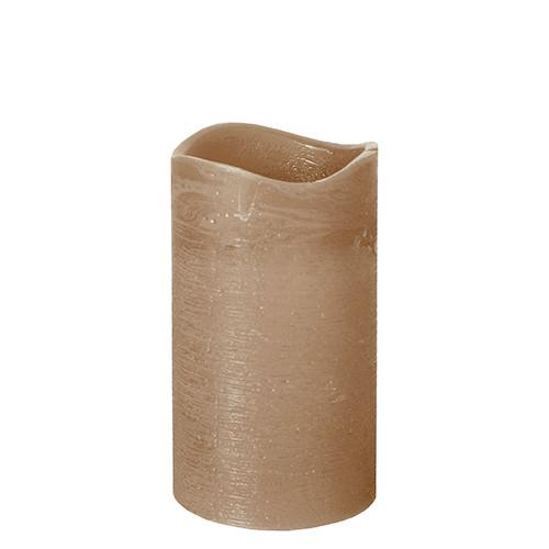 Papstar - Rustic LED Pillar 125mm Taupe