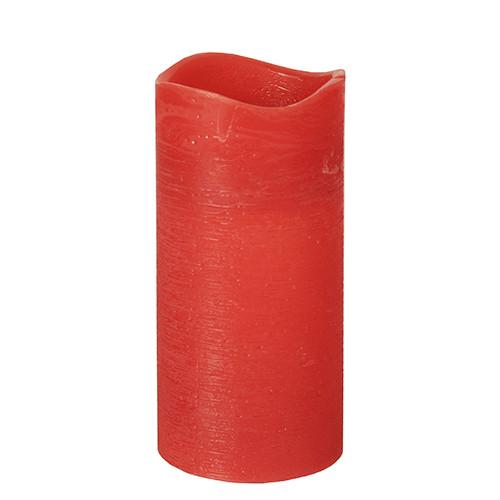 Papstar - Rustic LED Pillar 150mm Red