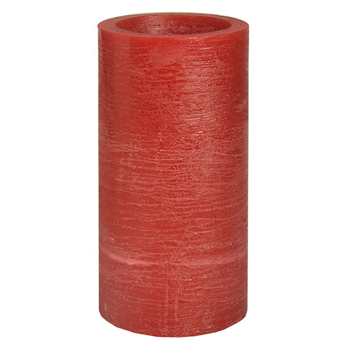 Papstar - Rustic LED Pillar 200mm Red