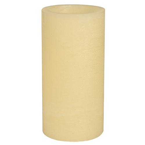 Papstar - Rustic LED Pillar 200mm Cream