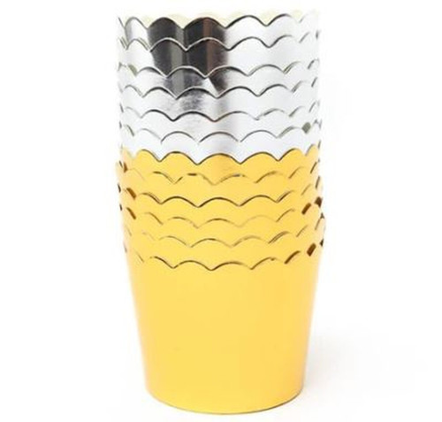 Gold Foil Baking Cups (25 )
