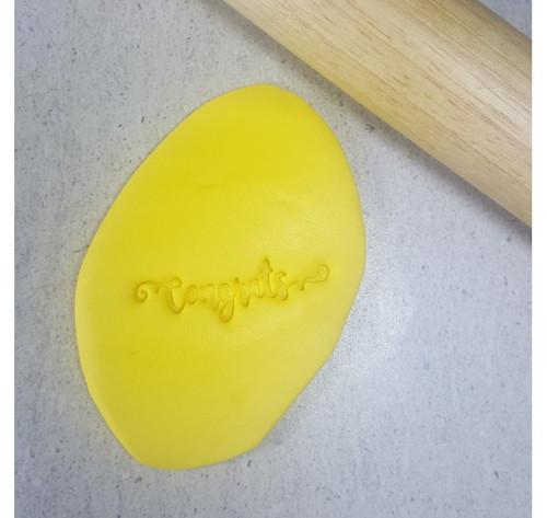 Custom Cookie Cutters - CONGRATS Embosser  (60mm )