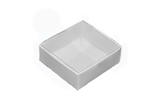 Chocolate Box 10 x 10 x 4cm with Clear Lid