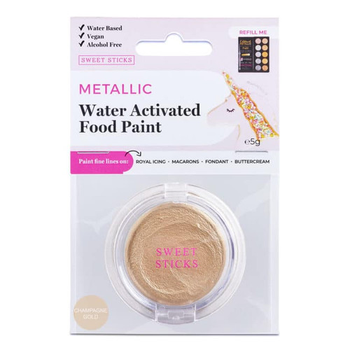 """Metallic Water Activated Food Paint-  """" Champagne Gold """" Sweet Sticks"""