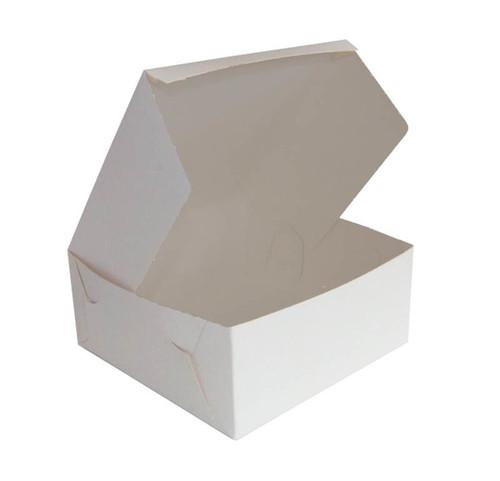 "Cake Box  10.5 "" x 10.5 x 5 ""  Milkboard"