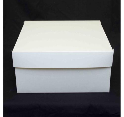 "Cake Box  15 "" x  15  x 4 ""   Lid and Base  PE Coated"
