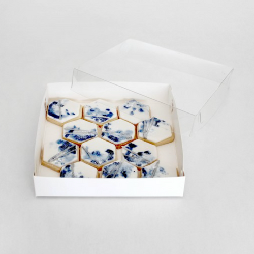 """Loyal Biscuit Box  with Clear Lid  ( 6"""" x 6  """" x 1"""" )"""