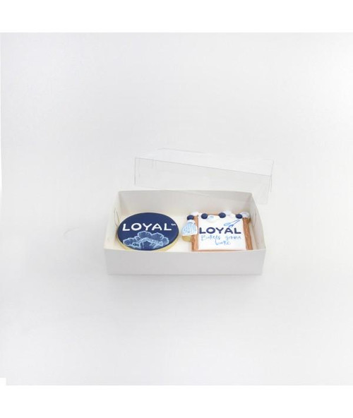 """Loyal  2 Biscuit Box  with Clear Lid  ( 6.75 """" x 4.5  """" x 1"""" )"""