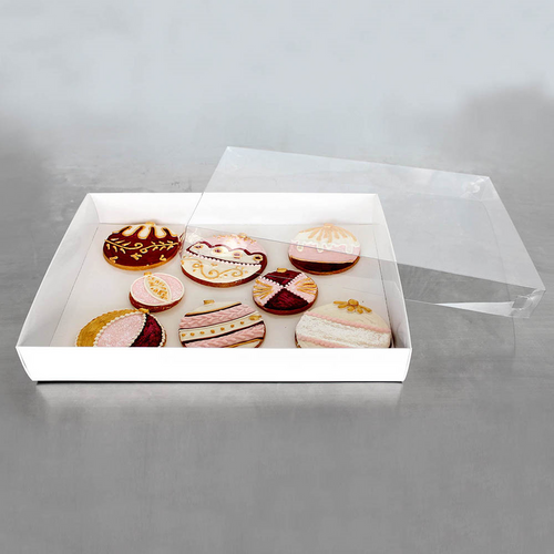 """Loyal   Biscuit Box  Rectangle  with Clear Lid  ( 12.5 """" x 10  """" x 2"""" )"""