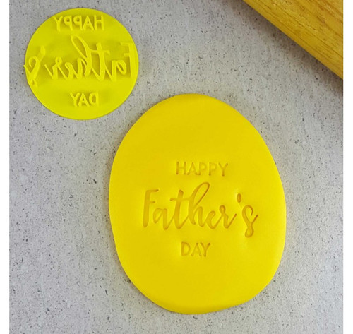 Custom Cookie Cutters - Happy Fathers Day  Embosser  (60mm )