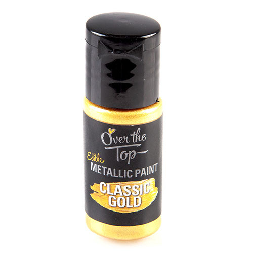 Edible Classic  Gold Metallic Paint 15ml - Over the top