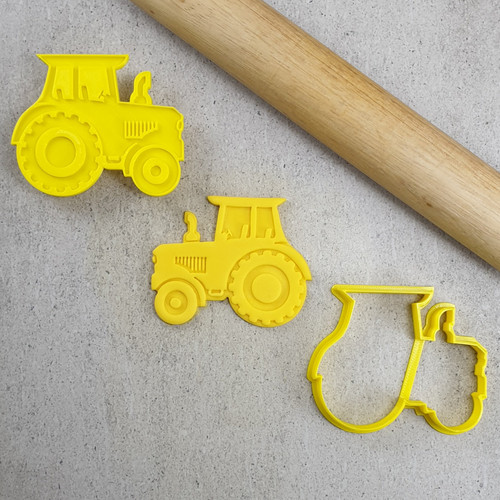 Custom Cookie Cutters - Tractor Embosser  & Cutter Set