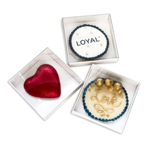 Loyal Biscuit /  Bonbonierres  Assembled  ( 9 x 9x 2cm )