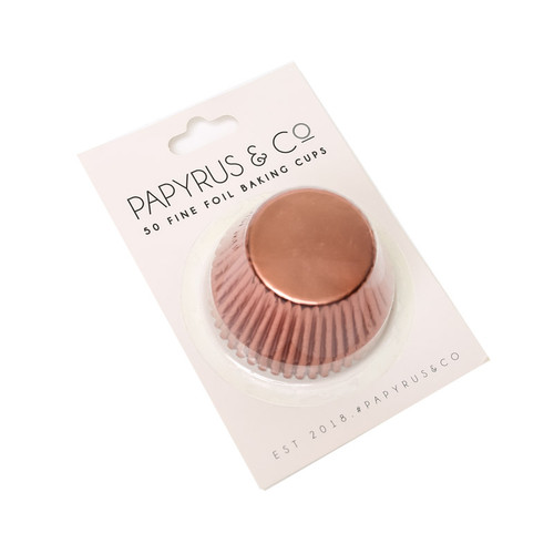 Mini  ROSE GOLD  Foil Baking Cups (50pack ) 35mm Base