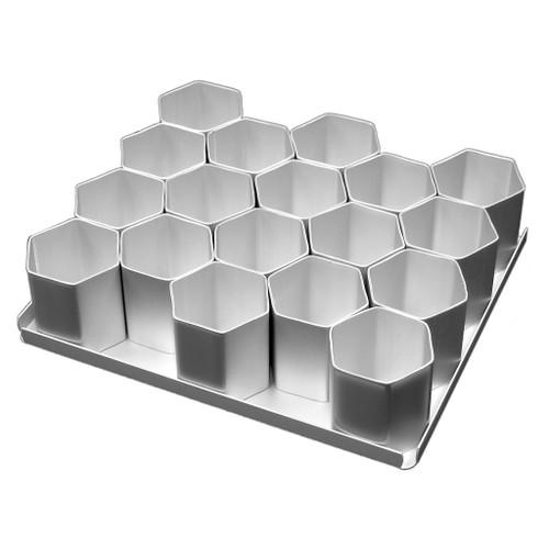 Silverwood - Mini Hexagon Cake Pan Set 18Pcs. 2inch (5cm)