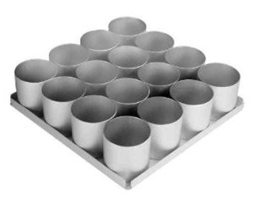 Silverwood - Mini Round Cake Pan Set (16pcs - 2.5inch (6cm) Diameter Rings