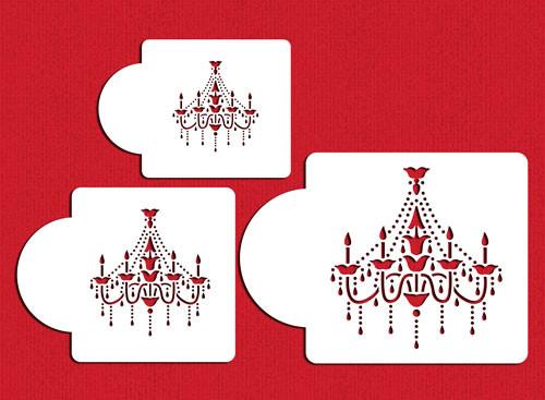 Designer Stencils - Chandelier Set Cake Stencil