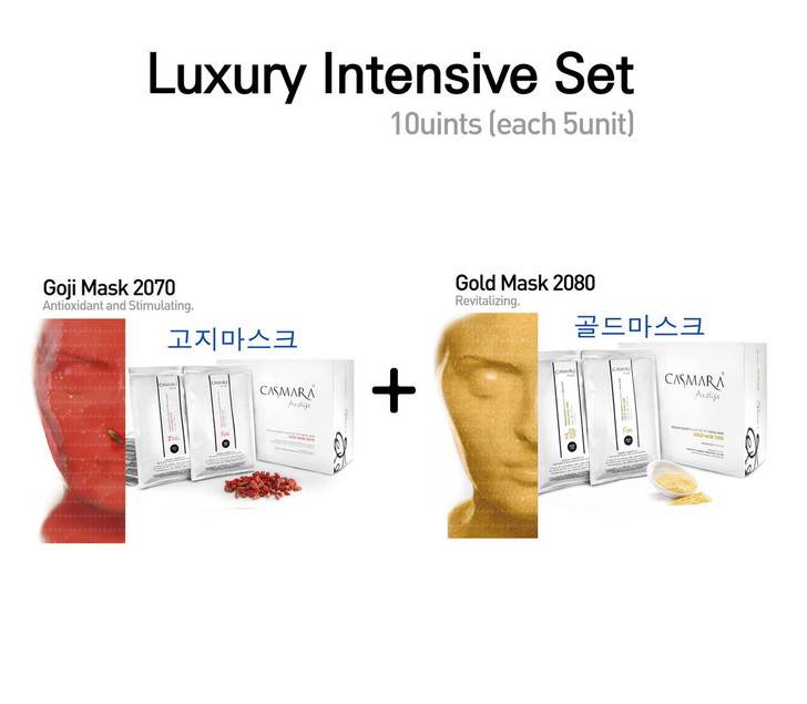 [Multi Set] Casmara Mask Gold 2080+ Goji Mask 2070 (each 5units) 1Box