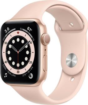Apple Watch Series 6 GPS 40mm/44mm(Gold) Aluminum, (Pink Sand Sport Band)
