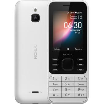 Nokia 6300 4G 2020 White 2.4 inches (FACTORY UNLOCKED) Quad Core Phone