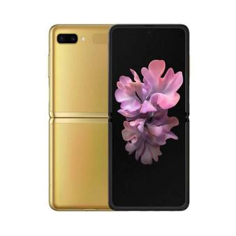 "Samsung Galaxy Z Flip F700F Gold 6.7"" foldable screen 256GB Phone"