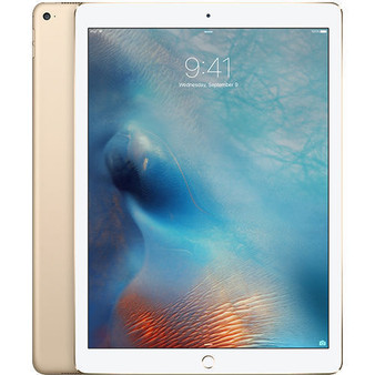 "Apple iPad Pro 128GB 4G LTE Gold iOS 9 4GB RAM 12.9"" 8MP Tablet"