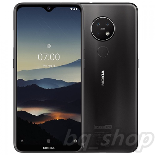 "Nokia 7.2 Dual Sim 6.3"" Black 128GB/6GB 48MP+5MP+8MP Android9 Pie SDM660"