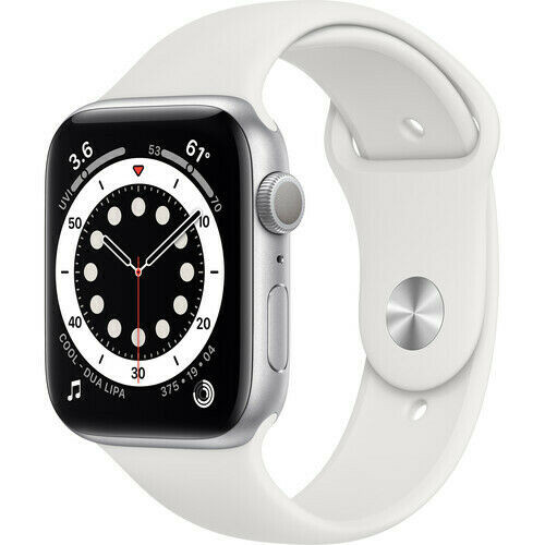 Apple Watch Series 6 GPS 40mm/44mm(Silver) Aluminum, (White Sport Band)