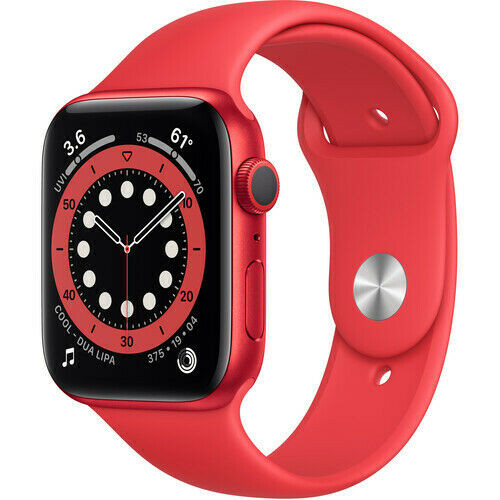 Apple Watch Series 6 GPS, 40mm,/44mm(RED) Aluminum, (RED) Sport Band